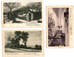 3 Cartoline Paesaggistiche Con Poesie Viaggiate 1916 Con Bolli Asportati Per Scritte Sottostanti  (   210  ) - Fotografia