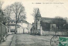 N°2178 A -cpa Croissy -la Grande Rue Et L'ancienne église- - Croissy-sur-Seine