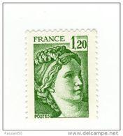 Sabine 1.20fr Vert YT 2101a Sans Phosphore . Voir Le Scan . Cote YT : 10 € , Maury N° 2106d : 10 € . - Variétés Et Curiosités