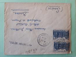 19883# LETTRE RECOMMANDE Obl TOULON MOURILLON VAR 1946 Pour BERNE SUISSE - 1921-1960: Moderne