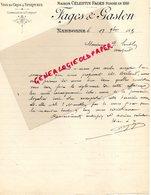 11- NARBONNE- 1891- RARE LETTRE SIGNEE FAGES & GASTON- MAISON CELESTIN FAGES-VINS EN GROS SPIRITUEUX - France