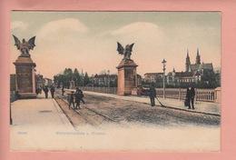 OUDE  POSTKAART ZWITSERLAND - SCHWEIZ - SUISSE -    BASEL - WETTSTEINBRUECKE - GEANIMEERD - BS Basle-Town