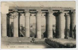 GOVERNATORATO  ISMAILIA      LUXOR   COLONNADES   (CENSURA)  1915      2  SCAN   (VIAGGIATA) - Ismailia