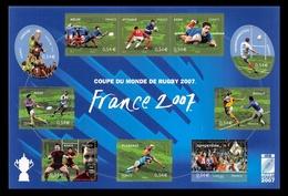 FRANCE 2007 NEUF** BF N° 11 Coupe Du Monde De Rugby - Blocs Souvenir