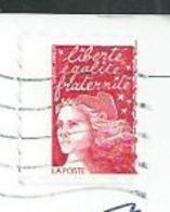Marianne De Luquet TVP Variété Piquage Décalé Sur Carte Postale - Abarten Und Kuriositäten