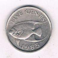 5 CENTS  1985 BERMUDA /6839/ - Bermuda
