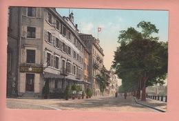 OUDE  POSTKAART ZWITSERLAND - SCHWEIZ - SUISSE -       BASEL - UNTERER RHEINWEG - BS Basle-Town