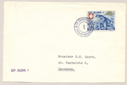 Schweiz - Stamped Feldpost Coverfront - CP. Subsistances / 1 To Lausanne - Front Only - Soldaten Briefmarken