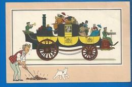CHEQUE TINTIN - HERGE - VOIR ET SAVOIR - AUTOMOBILE - DILIGENCE VAPEUR DE JAMES- ORIGINE À 1900 - SERIE 2 - N° 12 - Bandes Dessinées
