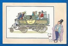 CHEQUE TINTIN - HERGE - VOIR ET SAVOIR - AUTOMOBILE - DILIGENCE VAPEUR DE GURNEY - ORIGINE À 1900 - SERIE 2 - N° 11 - Bandes Dessinées