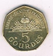 5 GOURDES 1995 HAITI /6842/ - Haiti
