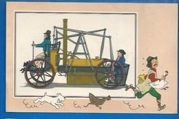 CHEQUE TINTIN - HERGE - VOIR ET SAVOIR - AUTOMOBILE - VOITURE VAPEUR DE PAGANI - ORIGINE À 1900 - SERIE 2 - N° 13 - Bandes Dessinées