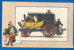 CHEQUE TINTIN - HERGE - VOIR ET SAVOIR - AUTOMOBILE - DILIGENCE COLONEL MACERONE - ORIGINE À 1900 - SERIE 2 - N° 14 - Bandes Dessinées