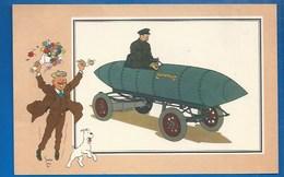 CHEQUE TINTIN - HERGE - VOIR ET SAVOIR - AUTOMOBILE - VOITURE DE COURSE JAMAIS CONTENTE - ORI À 1900 - SERIE 3 - N° 56 - Bandes Dessinées