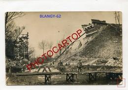 Saint Laurent BLANGY-Pont Detruit-CARTE PHOTO Allemande-Guerre 14-18-1WK-France-62-Militaria- - Saint Laurent Blangy