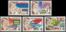 Soviet Unie CCCP Russia 1977 Mi 4671 /5 SG 4713 /7 ** Postal Communications / Postwesen In UdSSR - Post