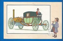CHEQUE TINTIN - HERGE - VOIR ET SAVOIR - AUTOMOBILE - VOITURE VAPEUR DE SYMINGTON - ORI À 1900 - SERIE 1 - N° 5 - Bandes Dessinées