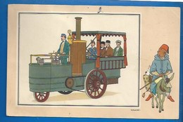 CHEQUE TINTIN - HERGE - VOIR ET SAVOIR - AUTOMOBILE - LOCOMOTIVE ROUTIERE DE LOTZ - ORI À 1900 - SERIE 5 - N° 23 - Bandes Dessinées
