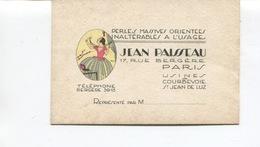 PARIS 9ème Arrt - Carte De Visite - Jean PAISSEAU - Perles, Massives Orientée - 17 Rue Bergère - Usine à COURBEVOIE - Cartes De Visite