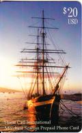 PUERTO RICO - Sailing Boat, Home Call International Prepaid Card $20, Used - Puerto Rico