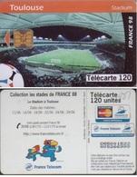 F881 TELECARTE TOULOUSE STADE STADIUM 120 U PUCE OB2 1998/06 - France