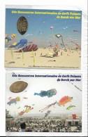 """26ème RICV De Berck-sur-Mer - 2 Cartes Revêtues D'un """" Elongated Penny """" - Format 14 X 10,5 - Tirage Limité à 100 Eexemp - Manifestations"""