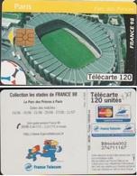 F879 TELECARTE STADE PARC Des PRINCES 120 U PARIS 1998/06 PUCE GEM2 - France