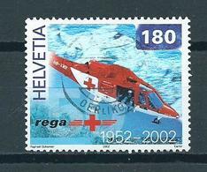 2002 Switzerland 180 Helicopter,REGA Used/gebruikt/oblitere - Suisse