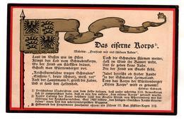 + 1667, Feldpost,  Patriotika, Das Eiserne Korps - War 1914-18