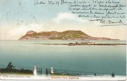 Gibraltar 1907 Seen From Algeciras No. 1751 By Edition Photoglob Co., Zürich Viewcard To Belgium - Gibraltar