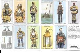 BD28 - SERIE COMPLETE 50 CARTES VICTORIA GALLERY - DEEP SEA DIVING - PLONGEE EN SCAPHANDRE - Cigarettes