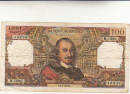 Francia, Banconota 100 Francs ( Pierre Corneille ) 1977 Qualche Piega Cons. BB - 1962-1997 ''Francs''