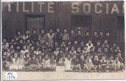 PARIS XIII- CARTE-PHOTO- LES PUPILLES DE L UTILITE SOCIALE - Arrondissement: 13