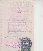 Saudi Arabia  Revenue Stamps On Document   (Red-2254) - Saudi Arabia