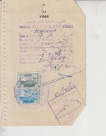 Lebanon  Revenue Stamps On Document   (Red-2254) - Lebanon