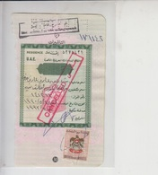 UAE  Revenue Stamps On Document   (Red-2257) - Lebanon