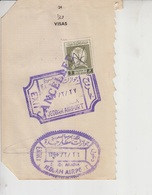 Saudi Arabia Revenue Stamps On Document   (Red-2257) - Saudi Arabia