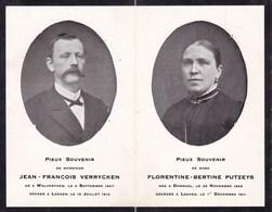 DORMAEL DORMAAL Jean-François VERRYCKEN (1847-1912) Et Florentine PUTZEYS (1849-1911) DP - Obituary Notices