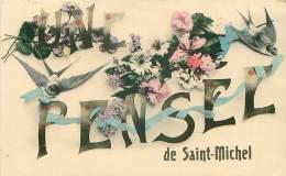 27.SAINT MICHEL.N°29711.UNE PENSEE DE SAINT MICHEL - France