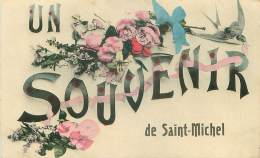 27.SAINT MICHEL.N°29712.UN SOUVENIR DE SAINT MICHEL - France