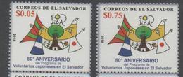 EL SALVADOR ,2017, MNH, 50th ANNIVERSARY OF PROGRAMME OF JAPANESE VOLUNTEERS IN EL SALVADOR, 2v - Stamps