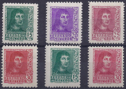 ESPAÑA 1938 - Edifil #841/44A - MLH * - 1931-Aujourd'hui: II. République - ....Juan Carlos I