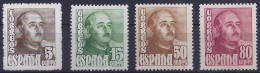 ESPAÑA 1948/54 - Edifil #1020/23 - MLH * - 1931-Aujourd'hui: II. République - ....Juan Carlos I