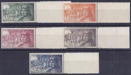 ESPAÑA 1952 - Edifil #1111/15 - MNH ** - 1951-60 Nuevos & Fijasellos