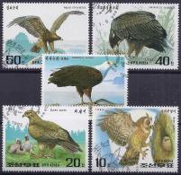 NORTH COREA 1992 - Yvert # 2265/69 - Águilas & Aves De Presa