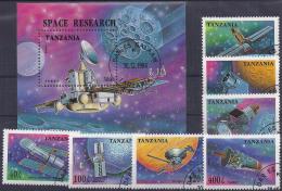TANZANIA 1994 - Yvert # 1709/15+H251 - VFU - Espacio