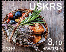 CROATIA, 2017, MNH, EASTER, BREAD, CELEBRATIONS, 1v - Easter