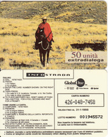 ITALY - Extradialoga, Infostrada/Global One Prepaid Card 50 Units, Exp.date 31/01/98, Used - [2] Sim Cards, Prepaid & Refills