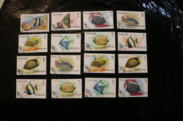 Sharjah Fish Fauna Collection Of 12 Values Cancelled WYSIWYG A04s - Sharjah