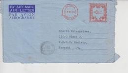 Hong Kong Airmail Cover To Pakistan,     (Red-2279) - Hong Kong (1997-...)